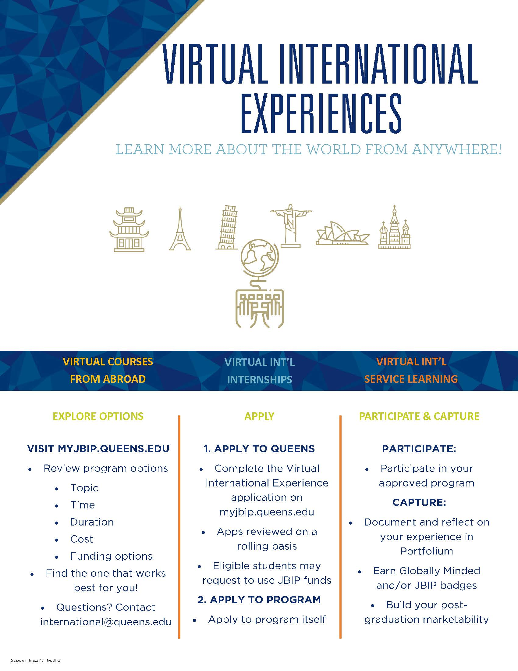Virtual International Experience flier